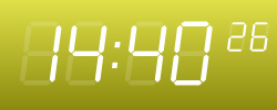 Yellow digital clock